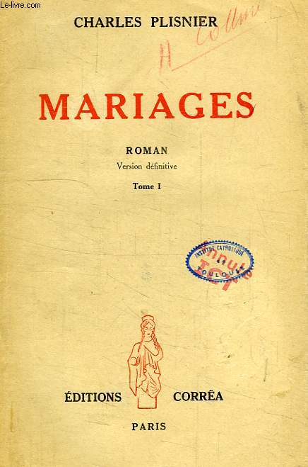MARIAGES, TOME I
