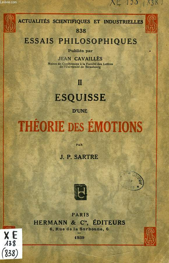 ESQUISSE D'UNE THEORIE DES EMOTIONS