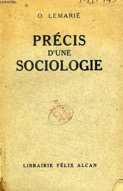 PRECIS D'UNE SOCIOLOGIE
