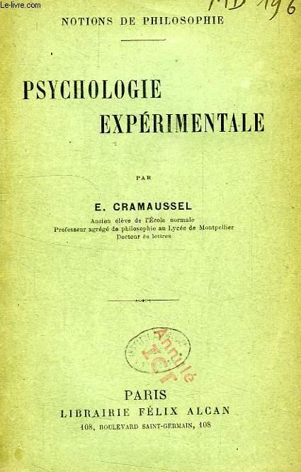 PSYCHOLOGIE EXPERIMENTALE