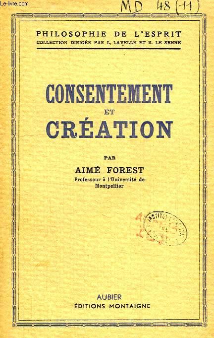 CONSENTEMENT ET CREATION