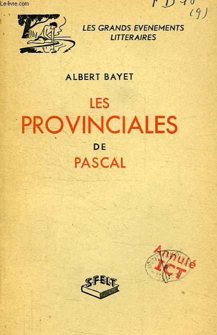 LES PROVINCIALES DE PASCAL