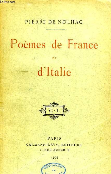 POEMES DE FRANCE ET D'ITALIE