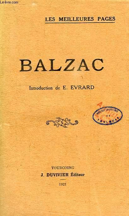 BALZAC, LES MEILLEURES PAGES