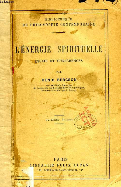 L'ENERGIE SPIRITUELLE, ESSAIS ET CONFERECES