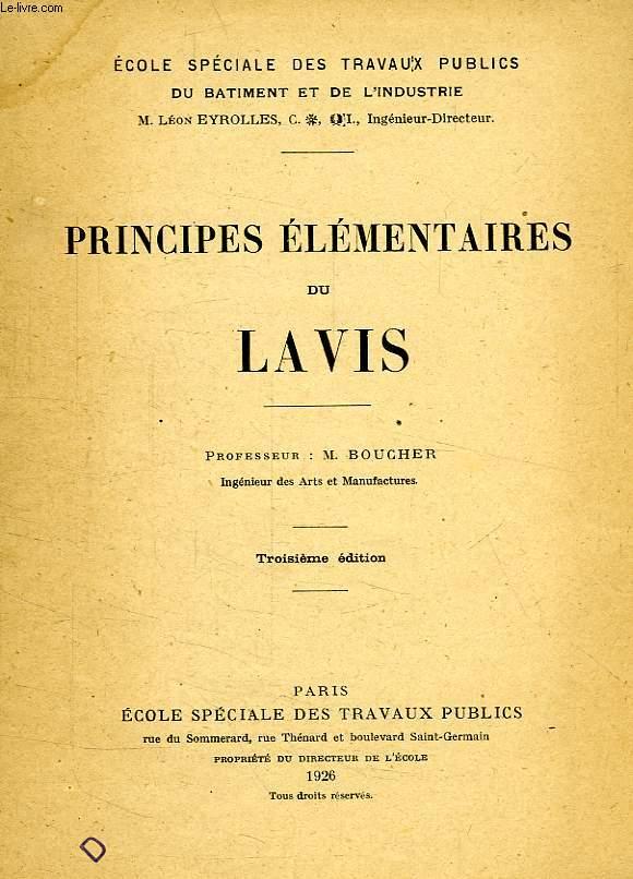 PRINCIPES ELEMENTAIRES DU LAVIS