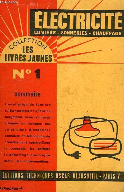 LES LIVRES JAUNES, N° 1, ELECTRICITE