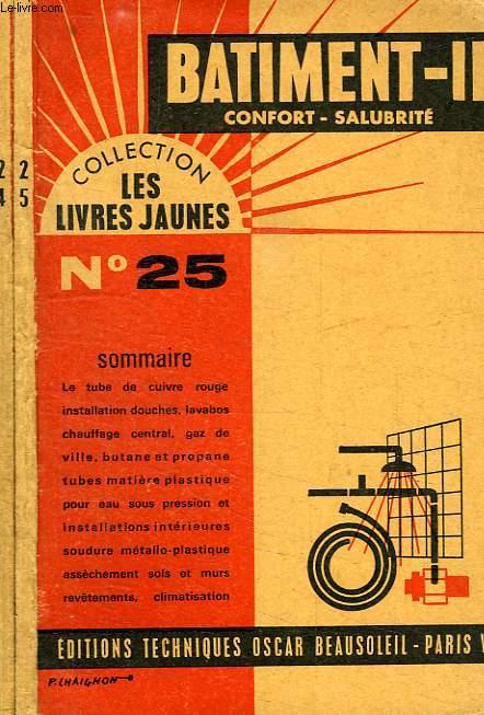 LES LIVRES JAUNES, N° 24-25, BATIMENT I-II