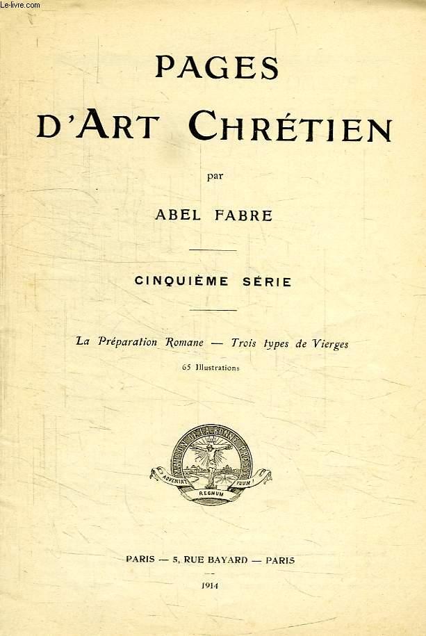 PAGES D'ART CHRETIEN, 5e SERIE