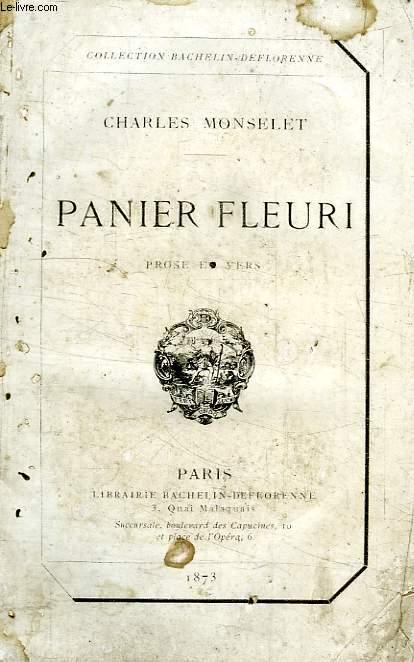 PANIER FLEURI, PROSE ET VERS