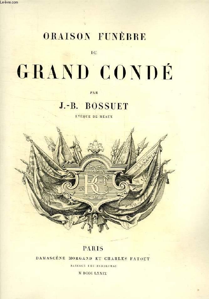 ORAISON FUNEBRE DU GRAND CONDE