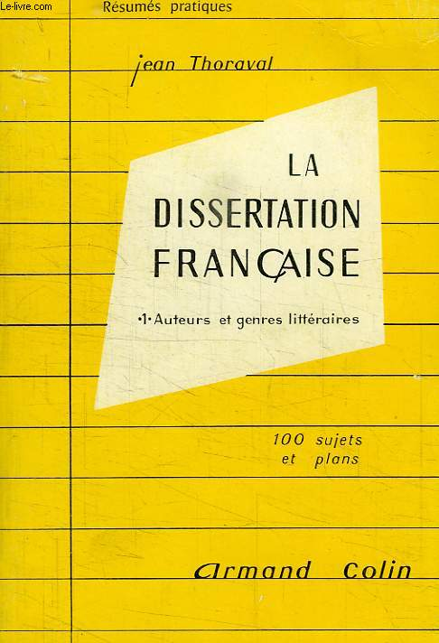 technique de la dissertation littraire