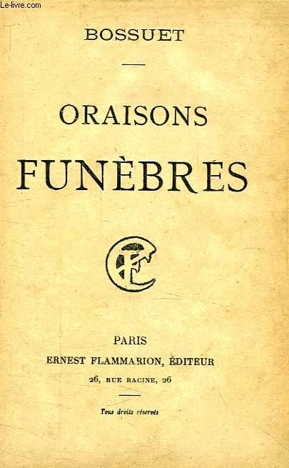 ORAISONS FUNEBRES