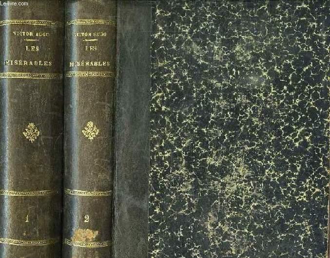 LES MISERABLES, 4 PARTIES EN 2 VOLUMES (INCOMPLET)
