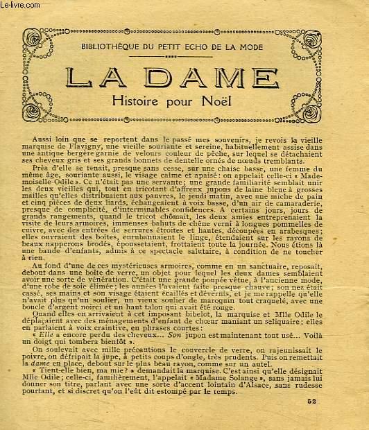 LA DAME, HISTOIRE POUR NOEL
