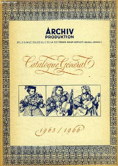 ARCHIV PRODUKTION, CATALOGUE GENERAL 1965-1966