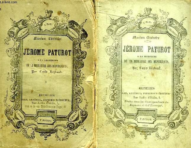 JEROME PATUROT A LA RECHERCHE DE LA MEILLEURE DES REPUBLIQUES, 6 TOMES (COMPLET)