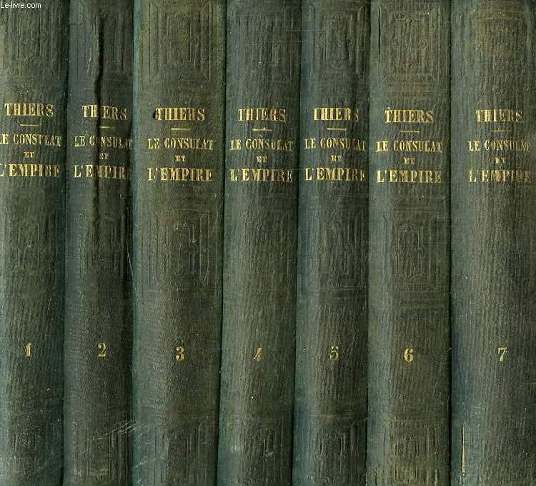 HISTOIRE DU CONSULAT ET DE L'EMPIRE, FAISANT SUITE A L'HISTOIRE DE LA REVOLUTION FRANCAISE, 20 TOMES (COMPLET)