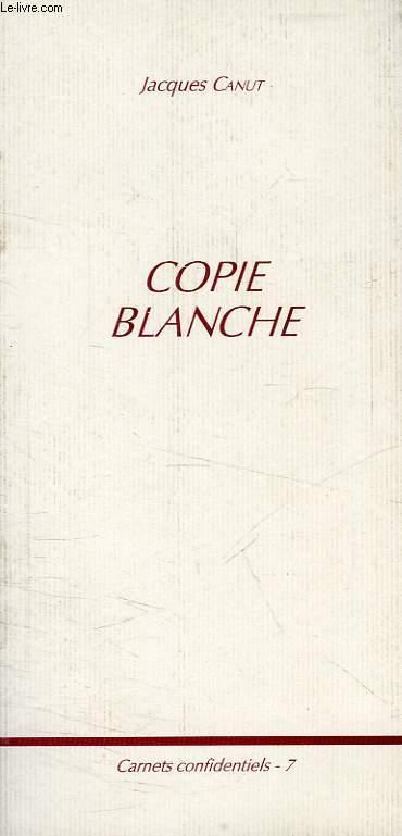 COPIE BLANCHE
