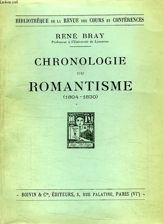 CHRONOLOGIE DU ROMANTISME (1804-1830)