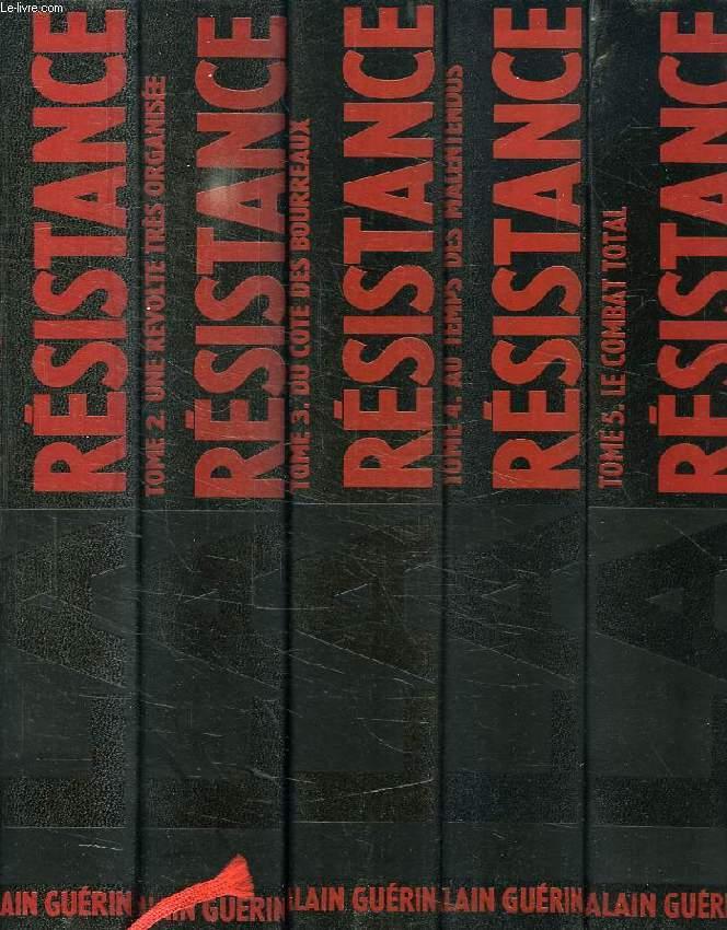 LA RESISTANCE, CHRONIQUE ILLUSTREE, 1930-1950, 6 VOLUMES (COMPLET)