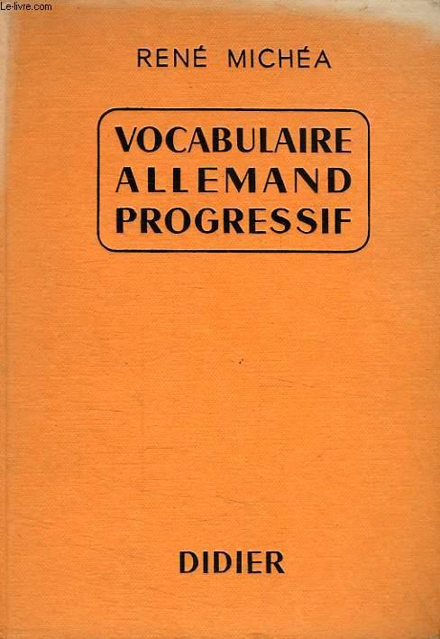 VOCABULAIRE ALLEMAND PROGRESSIF