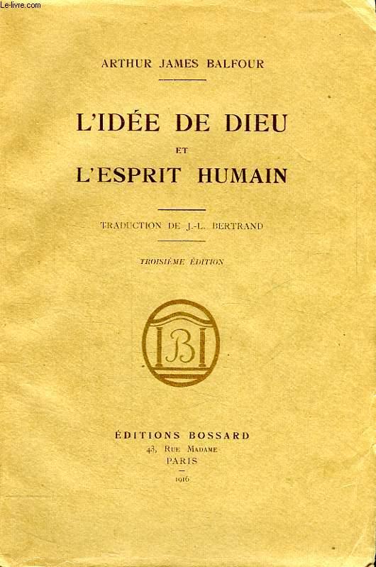 L'IDEE DE DIEU ET L'ESPRIT HUMAIN