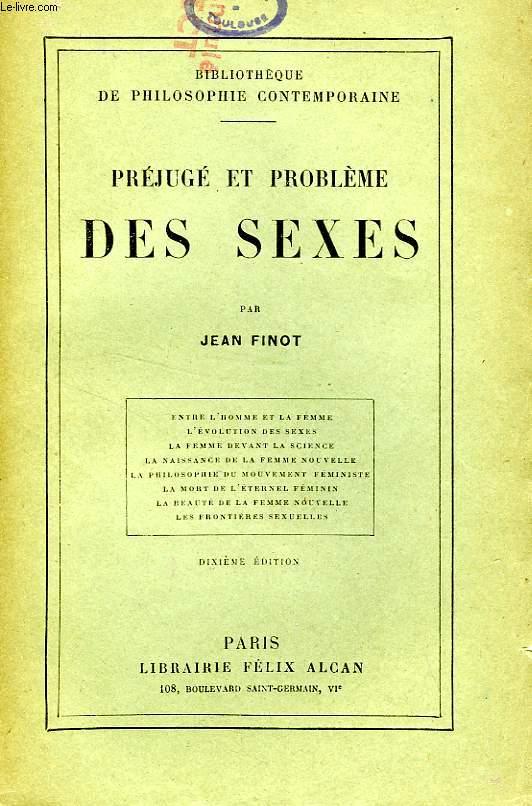 PREJUGE ET PROBLEME DES SEXES