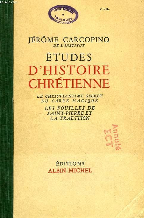 ETUDES D'HISTOIRE CHRETIENNE