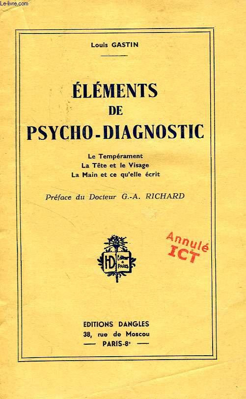 ELEMENTS DE PSYCHO-DIAGNOSTIC