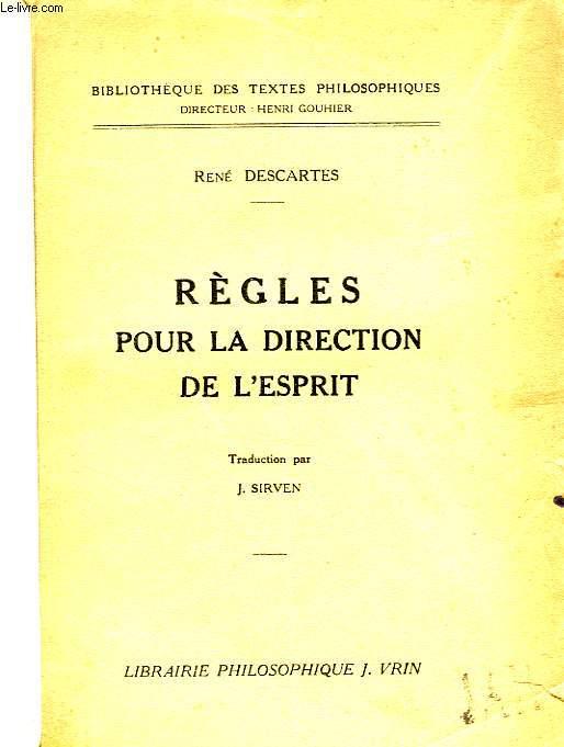REGLES POUR LA DIRECTION DE L'ESPRIT