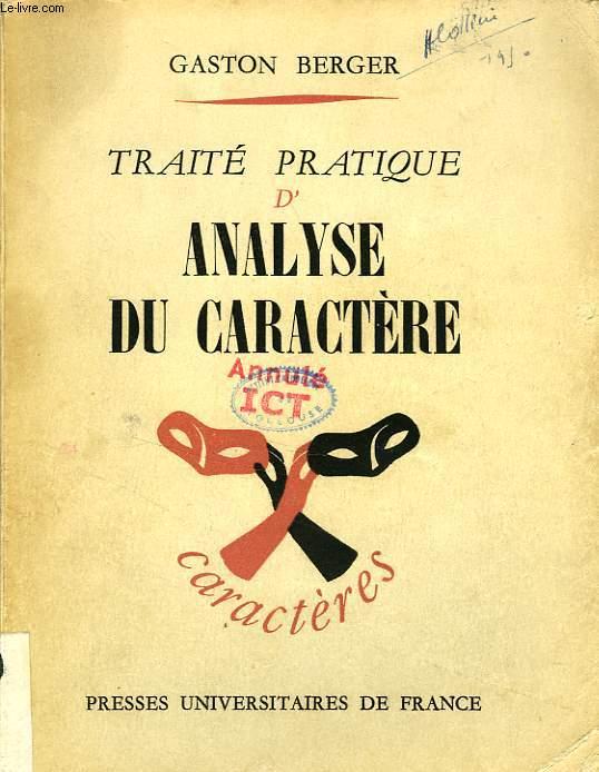 TRAITE PRATIQUE D'ANALYSE DU CARACTERE