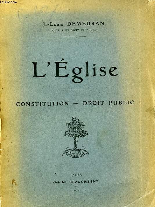 L'EGLISE, CONSTITUTION-DROIT PUBLIC