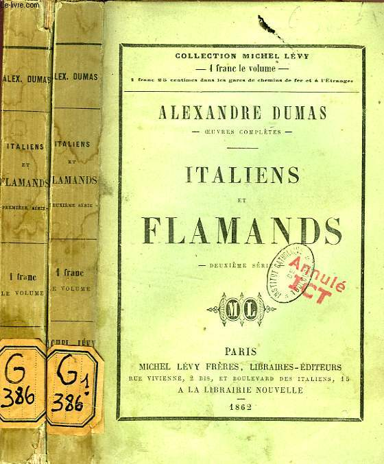 ITALIENS ET FLAMANDS, 2 TOMES