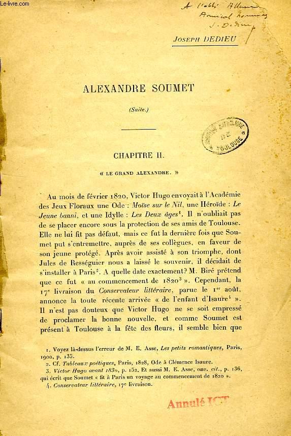 ALEXANDRE SOUMET (SUITE)