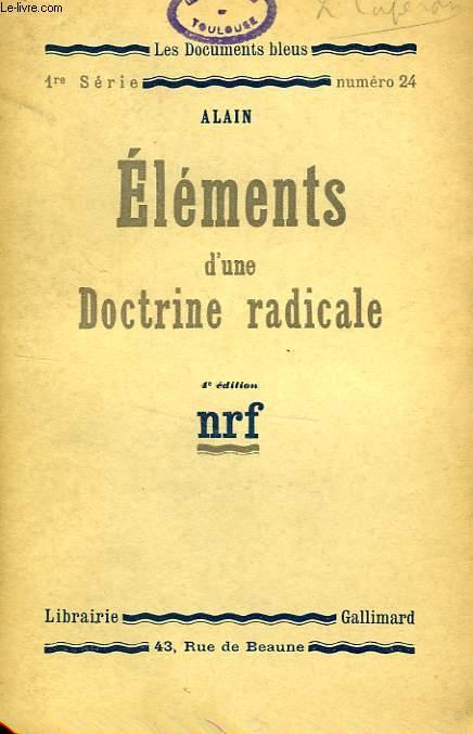 ELEMENTS D'UNE DOCTRINE RADICALE