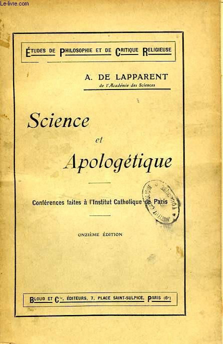 SCIENCE ET APOLOGETIQUE
