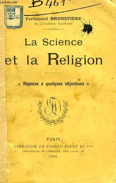 LA SCIENCE ET LA RELIGION