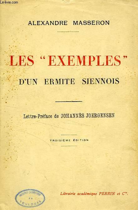 LES 'EXEMPLES' D'UN ERMITE SIENNOIS