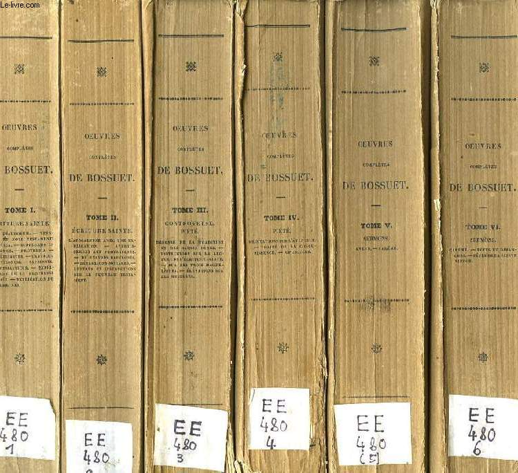 OEUVRES COMPLETES DE BOSSUET, 20 VOLUMES (19 TOMES + 1 HISTOIRE DE BOSSUET) (COMPLET)