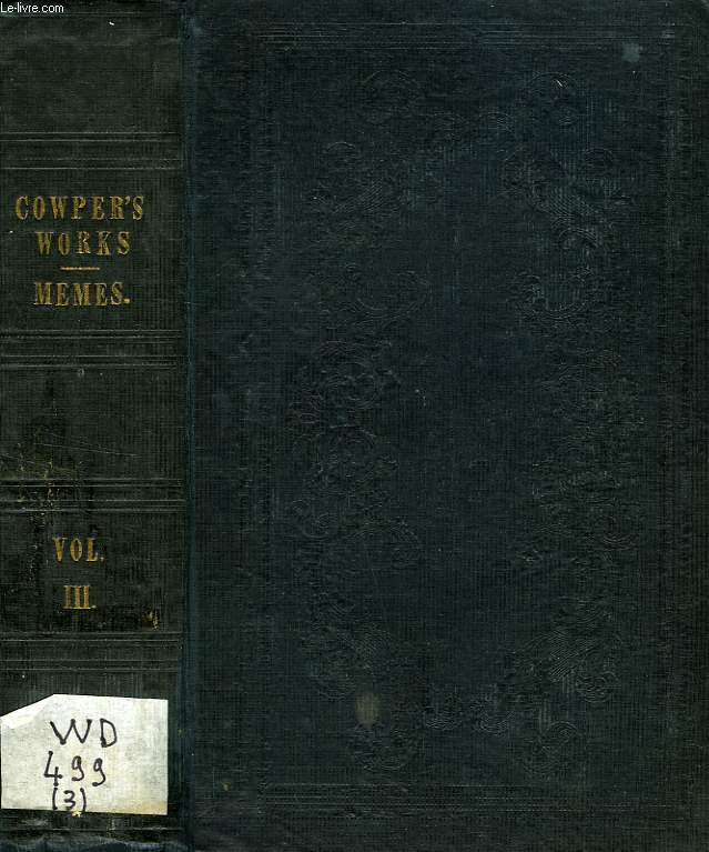 THE WORKS OF WILLIAM COWPER, VOL. III