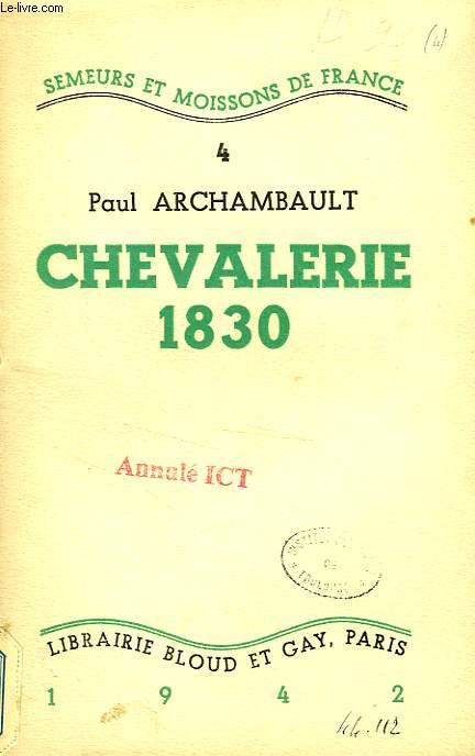 CHEVALERIE 1830