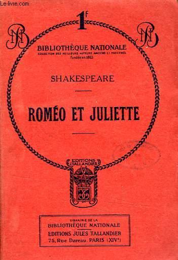 ROMEO ET JULIETTE, TRAGEDIE EN 5 ACTES ET EN PROSE