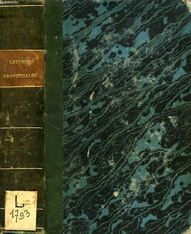 LETTRES PROVINCIALES, TOMES I-II (1 VOLUME)