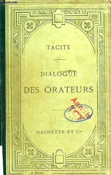 DIALOGUE DES ORATEURS