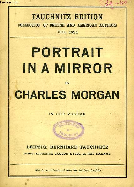 PORTRAIT IN A MIRROR (VOL. 4924), IN ONE VOLUME