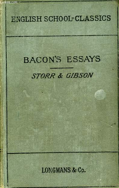 BACON4S ESSAYS