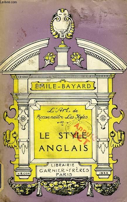 LE STYLE ANGLAIS