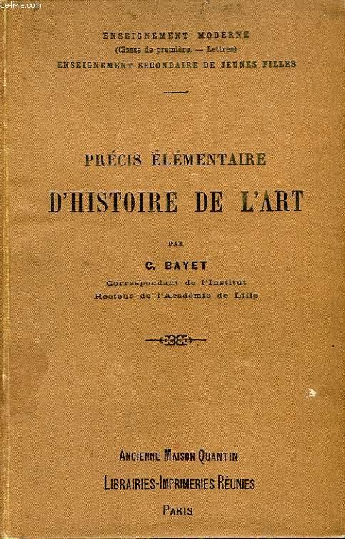 PRECIS ELEMENTAIRE D'HISTOIRE DE L'ART