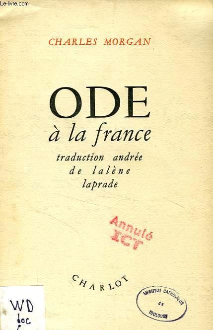 ODE A LA FRANCE